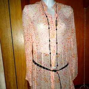 Victoria Secret long sleeve  sheer blouse size med